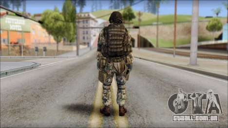 Forest GROM from Soldier Front 2 para GTA San Andreas segunda tela