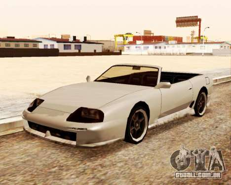 O Bobo Conversível para GTA San Andreas vista direita