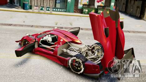 Pagani Zonda Autosport para GTA 4 traseira esquerda vista