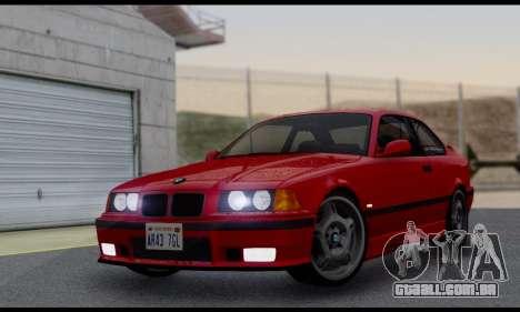 BMW M3 E36 1994 para GTA San Andreas vista traseira