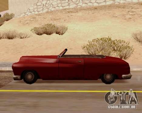 Hermes Conversível para GTA San Andreas esquerda vista