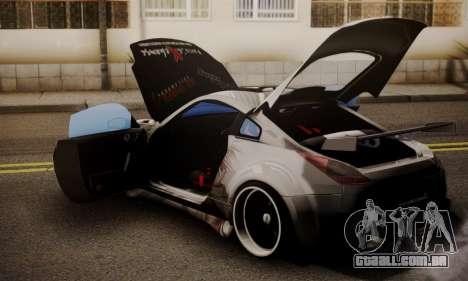 Nissan 350z Angel Beast Itasha Edition para GTA San Andreas vista traseira
