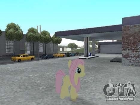 Fluttershy para GTA San Andreas por diante tela