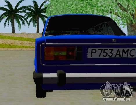 VAZ 21061 para GTA San Andreas vista traseira