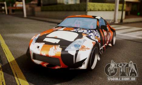 Nissan 350z Angel Beast Itasha Edition para GTA San Andreas vista interior