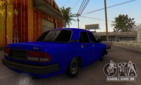 GAZ 3110 Volga LT para GTA San Andreas traseira esquerda vista