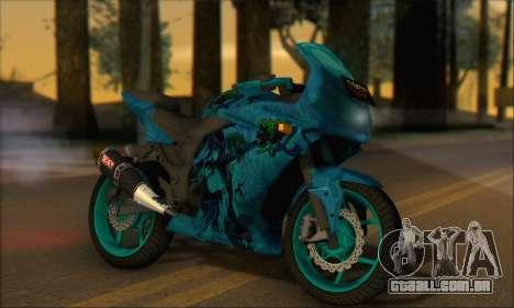Kawasaki Ninja 250 RR Highschool DxD para GTA San Andreas traseira esquerda vista