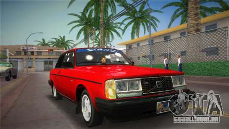Volvo 242 Turbo Evolution para GTA Vice City vista traseira esquerda