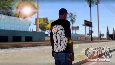 SlipKnoT T-Shirt mod para GTA San Andreas segunda tela