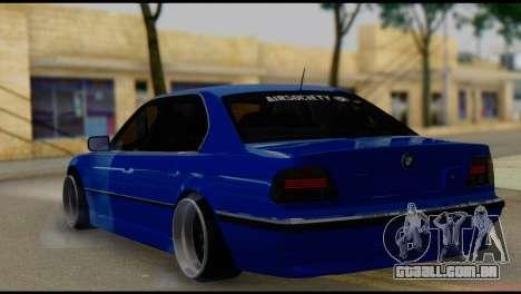 BMW 740i E38 para GTA San Andreas esquerda vista