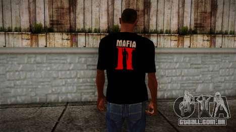 Mafia 2 Black Shirt para GTA San Andreas segunda tela
