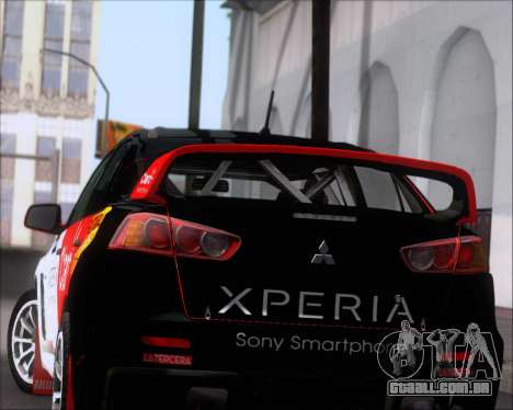 Mitsubushi Lancer Evolution Rally Team Claro para as rodas de GTA San Andreas