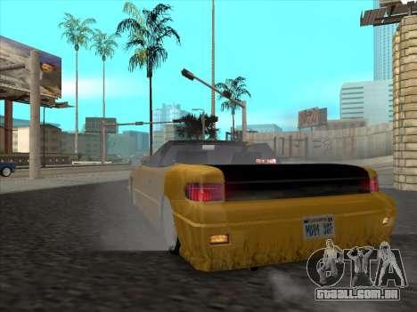 Alpha HD Cabrio para GTA San Andreas vista direita
