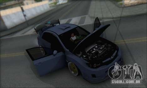 Subaru Impreza WRX STI 2010 para GTA San Andreas vista inferior