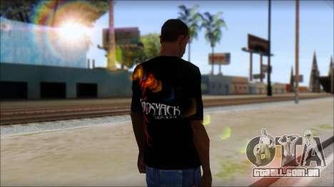 Godsmack T-Shirt para GTA San Andreas terceira tela
