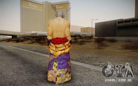 Heihachi Mishima v2 para GTA San Andreas segunda tela