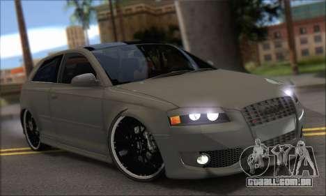 Audi S3 2006 Custom para GTA San Andreas vista direita