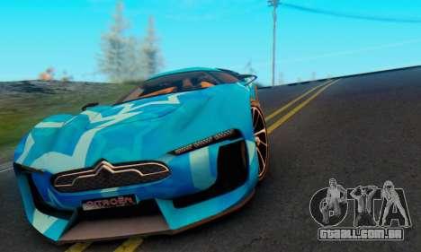 Citroen GT Blue Star para GTA San Andreas vista interior