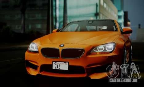 BMW M6 F13 2013 para GTA San Andreas vista superior
