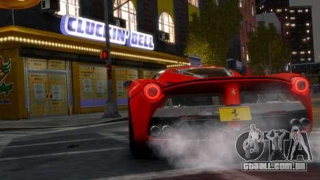 Ferrari LaFerrari WheelsandMore Edition para GTA 4 traseira esquerda vista