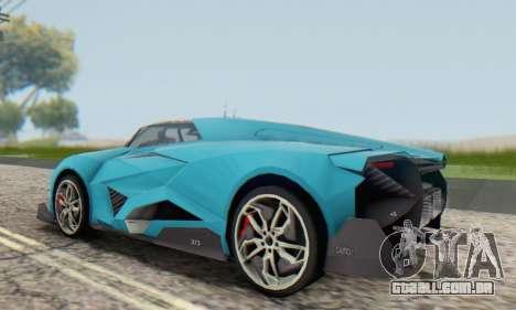 Lamborghini Egoista Concept 2013 para GTA San Andreas vista traseira