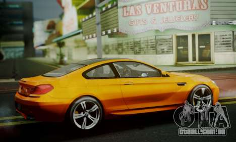 BMW M6 F13 2013 para GTA San Andreas vista interior