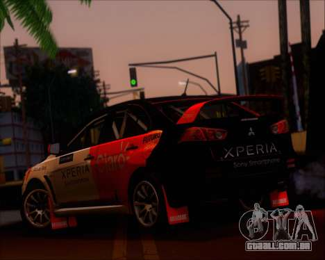 Mitsubushi Lancer Evolution Rally Team Claro para GTA San Andreas