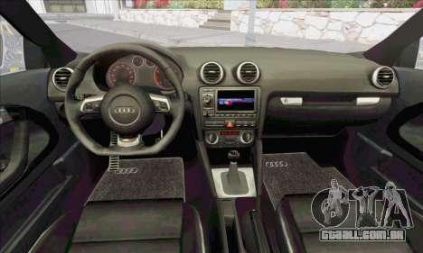 Audi S3 2006 Custom para vista lateral GTA San Andreas