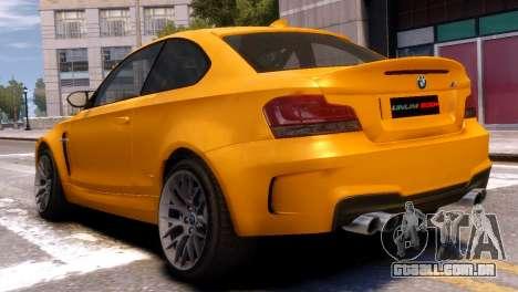 BMW 1M para GTA 4 esquerda vista