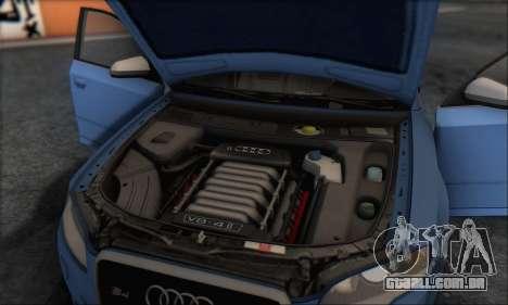 Audi S4 4.0 Quattro 2006 para GTA San Andreas interior