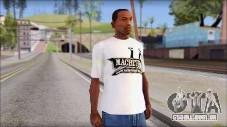 Macbeth T-Shirt para GTA San Andreas
