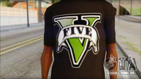GTA 5 T-Shirt para GTA San Andreas terceira tela