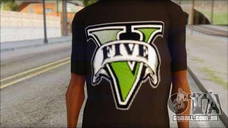 GTA 5 T-Shirt para GTA San Andreas terceira tela