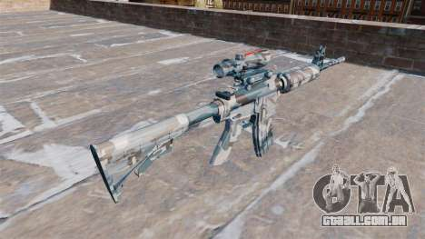 Automático carabina MA neve Derretida Camo para GTA 4 segundo screenshot
