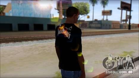 Jack Daniels T-Shirt para GTA San Andreas segunda tela
