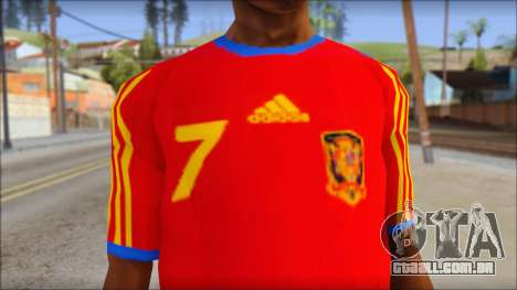 Spanish Football Shirt para GTA San Andreas terceira tela