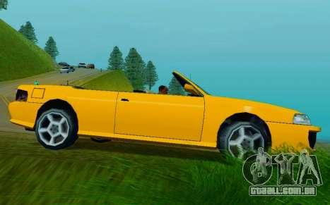Sultan Сabriolet v2.0 para GTA San Andreas traseira esquerda vista