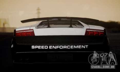 Lamborghini Gallardo LP 570-4 2011 Police v2 para GTA San Andreas traseira esquerda vista