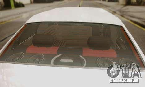 Peugeot Pars Limouzine para GTA San Andreas vista traseira