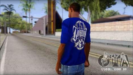 Lowrider Blue T-Shirt para GTA San Andreas segunda tela