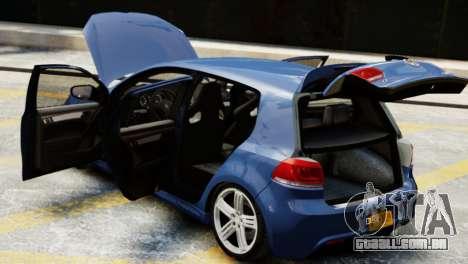 Volkswagen Golf R 2010 para GTA 4 vista de volta