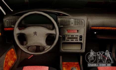 Peugeot Pars Limouzine para GTA San Andreas traseira esquerda vista