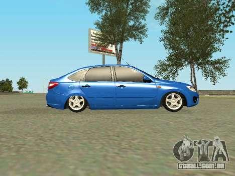 Lada Granta Liftback para GTA San Andreas vista inferior