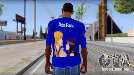 IchiRuki T-Shirt para GTA San Andreas segunda tela