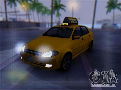 Chevrolet Lacetti Taxi para GTA San Andreas vista superior