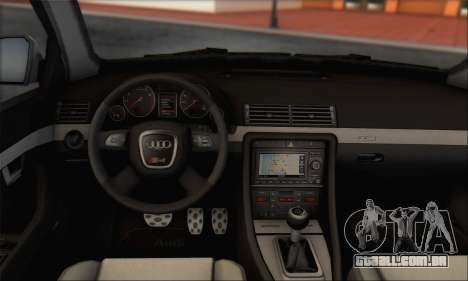 Audi S4 4.0 Quattro 2006 para vista lateral GTA San Andreas