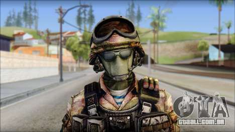 Forest GRU from Soldier Front 2 para GTA San Andreas terceira tela