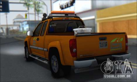Chevrolet Colorado Cleaning para GTA San Andreas esquerda vista