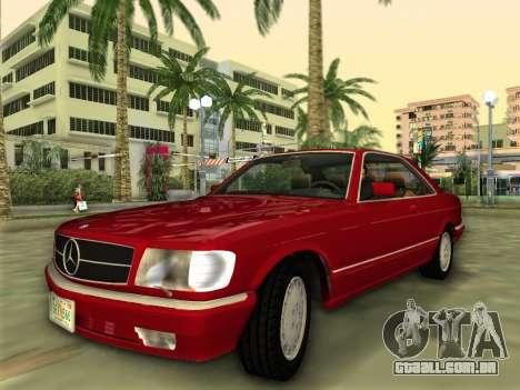 Mercedes-Benz 560SEC (W126) 1987 para GTA Vice City