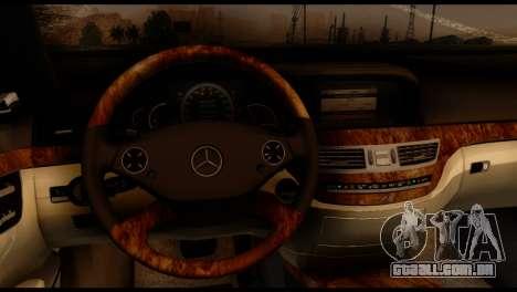 Mercedes-Benz S65 AMG para GTA San Andreas traseira esquerda vista